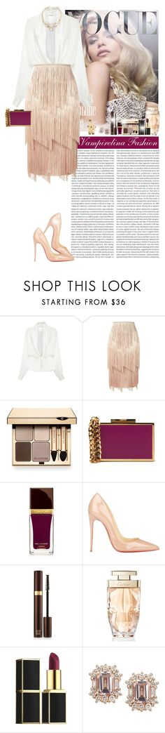 """""""I am committed to Glamour ~"""" by vampirelina ❤ liked on Polyvore featuring Rodarte, Tom Ford, Clarins, Lanvin, Christian Louboutin, Cartier and Movado"""