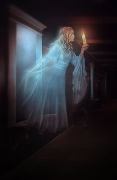 """""""Ghost"""" by artist obereg. If only more ghosts were this lovely, perhaps people wouldn't be so afraid of them..."""