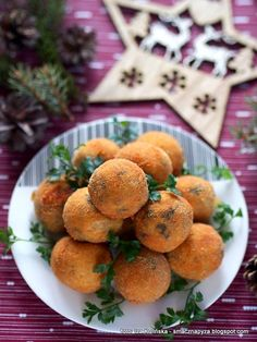 Potato croquettes with mushrooms Potato Croquettes, Dip, Stuffed Mushrooms, Muffin, Food And Drink, Appetizers, Potatoes, Dinner, Cooking