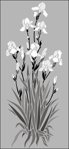 Click to see the actual GR56-L - Irises stencil design.