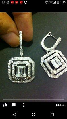 Everyday wear diamond earrings