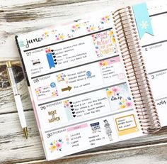 Planner page inspiration Mini Happy Planner, Cute Planner, Planner Layout, Planner Ideas, Planner Book, Filofax, Digital Bullet Journal, Planner Decorating, Planner Organization