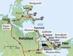 Rundreise Insel Rügen & Usedom - Küsten der Ostsee :: Saison 2017 :: Busreise (DE-BWUSE) :: Eberhardt TRAVEL