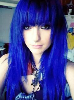 Brilliant blue #bright #hair #dyed #coloured