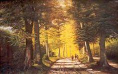 Ruimte uitbeelding door vooraan donkere kleuren en achteraan lichte kleuren te schilderen.