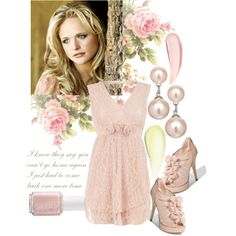 """""""Miranda Lambert with Pink Roses"""" by itscindylou on Polyvore"""