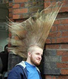 Unusual hair style