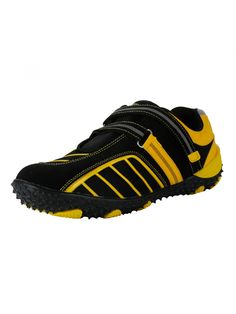Black Yellow Sports Shoes for Men - Buy Online Black Yellow Sports Shoes for Men.  Sports Shoes are known for their fun, contemporary design combined with rugged durability that complement your sports and laidback look. Easy to wear Vostro Sports Shoes consists fashion and comfort with extra ordinary unique range of design and colors. Vostro Men Sports Shoes will be a excellent pick to be worn with sporty outfits