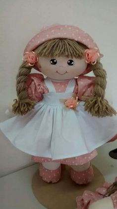 This Pin was discovered by BerMy Child doll.My sister had the crib, clothes, and play d Doll Sewing Patterns, Crochet Toys Patterns, Stuffed Toys Patterns, Crochet Dolls, Child Doll, Baby Dolls, Homemade Dolls, Diy Gifts For Kids, Doll Hair