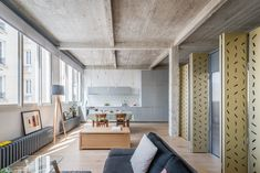 Photo 8 of 17 in An Ingenious Gold Island Transforms an Industrial Apartment in Paris - Dwell
