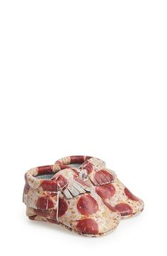 Freshly Picked 'Pizza' Leather Moccasin (Baby & Walker) available at #Nordstrom