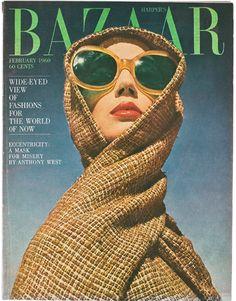 Harper's Bazaar, February 1960 photographer: Richard Avedon a cover from the Diana Vreeland era Richard Avedon, Vogue Vintage, Vintage Vogue Covers, Diana Vreeland, Magazine Mode, Vogue Magazine, Editorial Magazine, Collage Magazine, John Batho