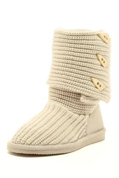 Knit Tall Boot, i want in grey!