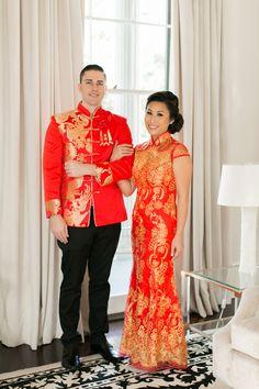 Gold Red Chinese Tea Ceremony Wedding - Captured by Arte De Vie