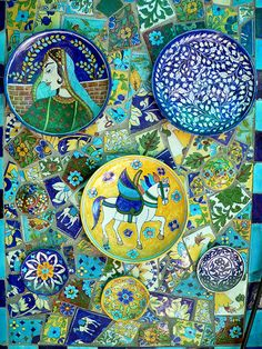 Jaipur is famous for its blue pottery.. the artwork is lovely as well!
