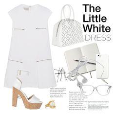 """The Little White Dress"" by janephoto ❤ liked on Polyvore featuring STELLA McCARTNEY, Alaïa, Lele Sadoughi, Nicholas Kirkwood and LWD"