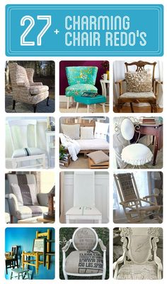 27+ #DIY:: Charming Makeovers for old/thrift chairs! All Beautiful !! Full Project Tutorials for Each !