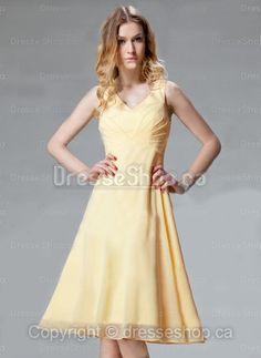 yellow simple dress