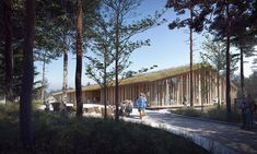 Young Architects Win First Prize for Museum of Forest Finn Culture in Norway,View from Outside. Image Courtesy of Lipinsky Lasovsky Johansson