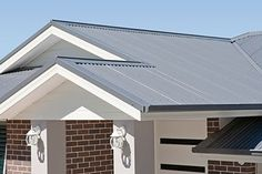 Ironstone roof and surfmist fascia