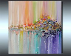 Original Abstract Painting, Colorful Abstract Painting, Abstract Landscape Art, Surreal Abstraction, Modern Painting, Hand-painted, Ready to Hang, Rich Texture, Palette Knife, Contemporary, Canvas Art, Multicolored, Floral, Zen, Modern Wall Decor ''Vision of landscape'' - -- Select Image Type --