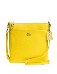 Coach North South Swingpack in Embossed Textured Leather