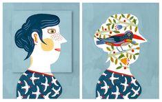 Cartastraccia: Letture Cartastraccia e un consiglio di lettura: A che pensi di Laurent Moreau, Orecchio Acerbo 2012