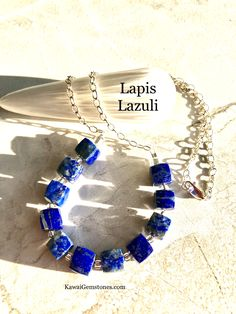 ✨Chunky High Grade Genuine Lapis with Argentium Silver Chain✨ Healing: LAPIS encourages self-awareness, speak ones truth, allows self-expression and reveals inner truth, providing qualities of honesty, compassion and morality to the personality. Lapis Lazuli Jewelry, Morality, Emotional Healing, Self Awareness, Honesty, Compassion, Personality, Chain, Stone