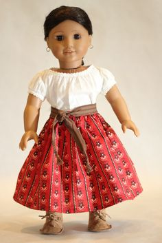 While whipping up a few Josefina skirts from scraps, I found a quick and painless way to sew up the free skirt pattern from The Pleasant Co...