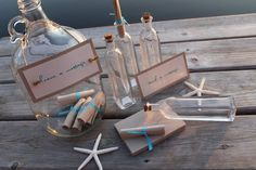 Great substitute for a guest book! Message in a bottle :)