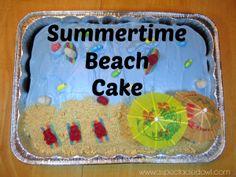 Summertime Beach Cake - Sharing Is Caring Blog Hop