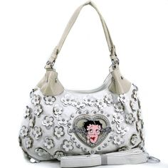 Betty Boop® Hobo Bag with Rhinestone Florets
