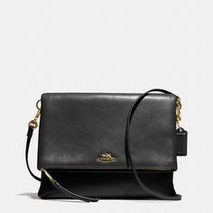The Madison Foldover Crossbody In Leather from Coach