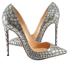 Christian Louboutin Croc Lurex So Kate 120mm Heels 41 Silver Pumps. Get the must-have pumps of this season! These Christian Louboutin Croc Lurex So Kate 120mm Heels 41 Silver Pumps are a top 10 member favorite on Tradesy. Save on yours before theyre sold out!