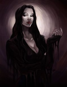 """ (Artist is Juhaihai. Character is Morticia Addams. The Addams Family, Adams Family, Morticia Addams, Mothers Day Post, Estilo Tim Burton, Estilo Dark, The New Yorker, Throne Of Glass, Gothic Art"