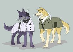 Dog!Urie and Dog!Shirazu ||| Dog AU ||| Tokyo Ghoul: Re Fan Art by nadenwolf on Tumblr