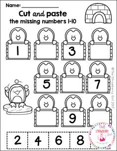 Kindergarten Math Worksheets - Winter- The Kindergarten Math Worksheets packet is filled with fun and adorable math worksheets that will engage your children with a Winter theme. Numbers Preschool, Preschool Learning, Preschool Crafts, Free Preschool, Teaching, Math Numbers, Kindergarten Math Worksheets, Preschool Activities, Math Literacy
