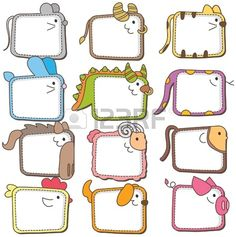 Chinese zodiac animal frames