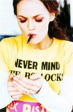 Vanessa Paradis and Sex Pistols Shirt -