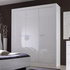 Armoire noire laquée avec miroirs design ELEGANCE | Meubles ...