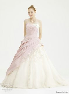 Pretty Fairy Tale Princess Style Ball Gown Wedding Dresses From Japan Based Takami Bridal Royal 2012 CollectionAbove Cruz With Elbow Length