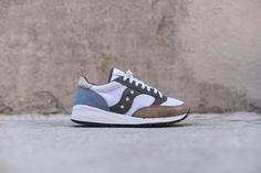 b7f78515c56ee Saucony Jazz 91 - White   Beige   Blue Blue Sneakers