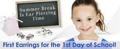The first earrings are a great gift for kindergarteners or elementary schoolers.