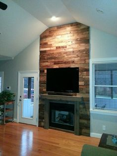 Reclaimed barnwood fireplace, Wicked Old Wood Co., Denver, NC