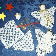 """Follow me on Facebook """" il mondo di Patty crochet """"  #crochet #crochetmania #lovecrochet #love #loving #friends #friend #girl #girls… Quilted Christmas Ornaments, Crochet Ornaments, Christmas Crochet Patterns, Holiday Crochet, Crochet Snowflakes, Angel Ornaments, Christmas Angels, Crochet Doilies, Crochet Yarn"""