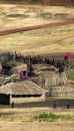 Traditional Village In Arusha Region, Tanzania. (via Tourism On The Edge)