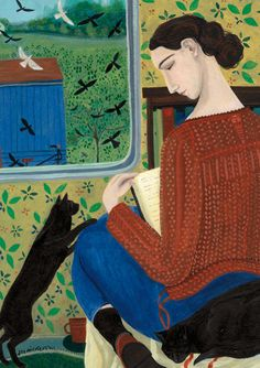 'Time Off' By Artist Dee Nickerson.  Blank Art Cards By Green Pebble.