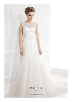 Ellis Bridals Wedding Dress - 19033. To see our Ellis Bridal Collection visit: http://www.lovethatfrock.com/wedding/the-bride/wedding-dresses/?designer=24
