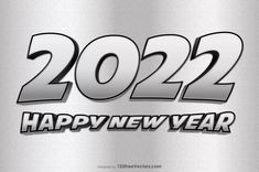 Free Silver New Year Background 2022