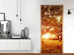 Designfolie Tree Sunlight für deine Tür Groß außen (86 x 198,5 cm)